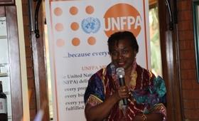 Dr. Natalia Kanem addressing private sector breakfast in Kenya